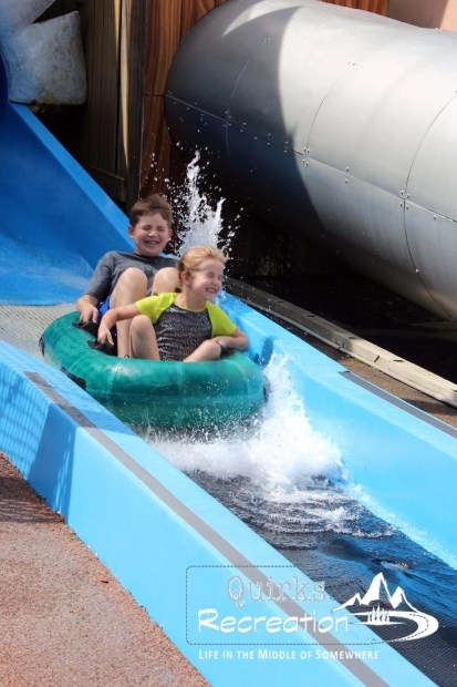 water raft ride in Fievel's Playland Universal Studios