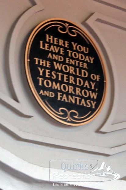 magic kingdom plaque Disney World