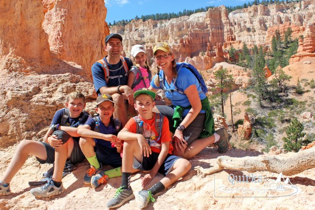 Family posing in Bryce Canyon National Park