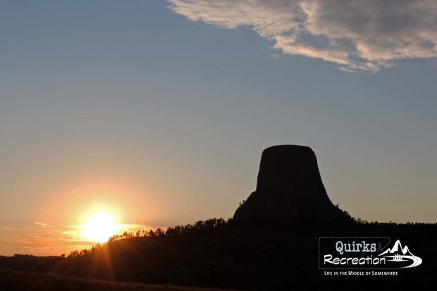 Devils Tower National Monument at sunset