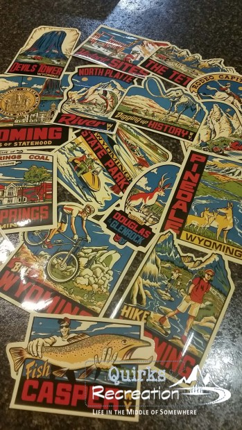 Wyoming tourism collector stickers