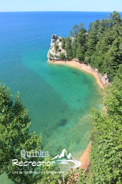 Miners Castle overlook at Pictured Rocks