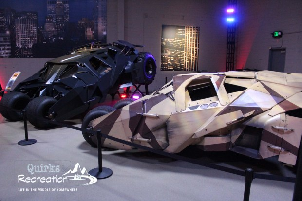 Batmobiles exhibit at Warner Bros.