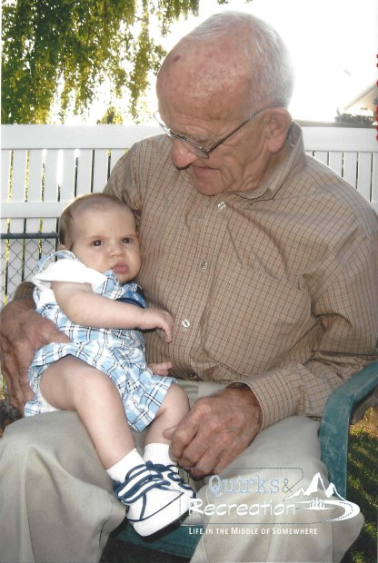 great grandpa meeting great grandson for the first time