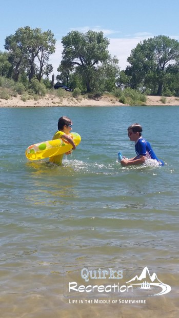 brothers playing at a Wyoming state park