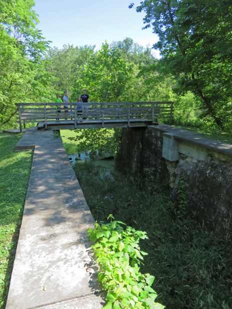 a canal lock in Cuyahoga Valley