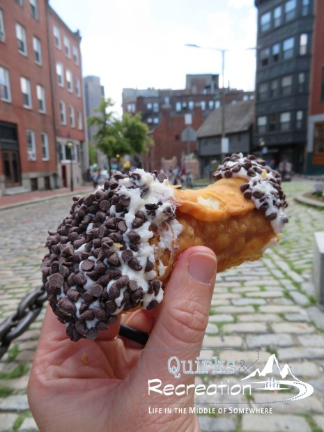 A cannoli from Mike's Pastry in Boston