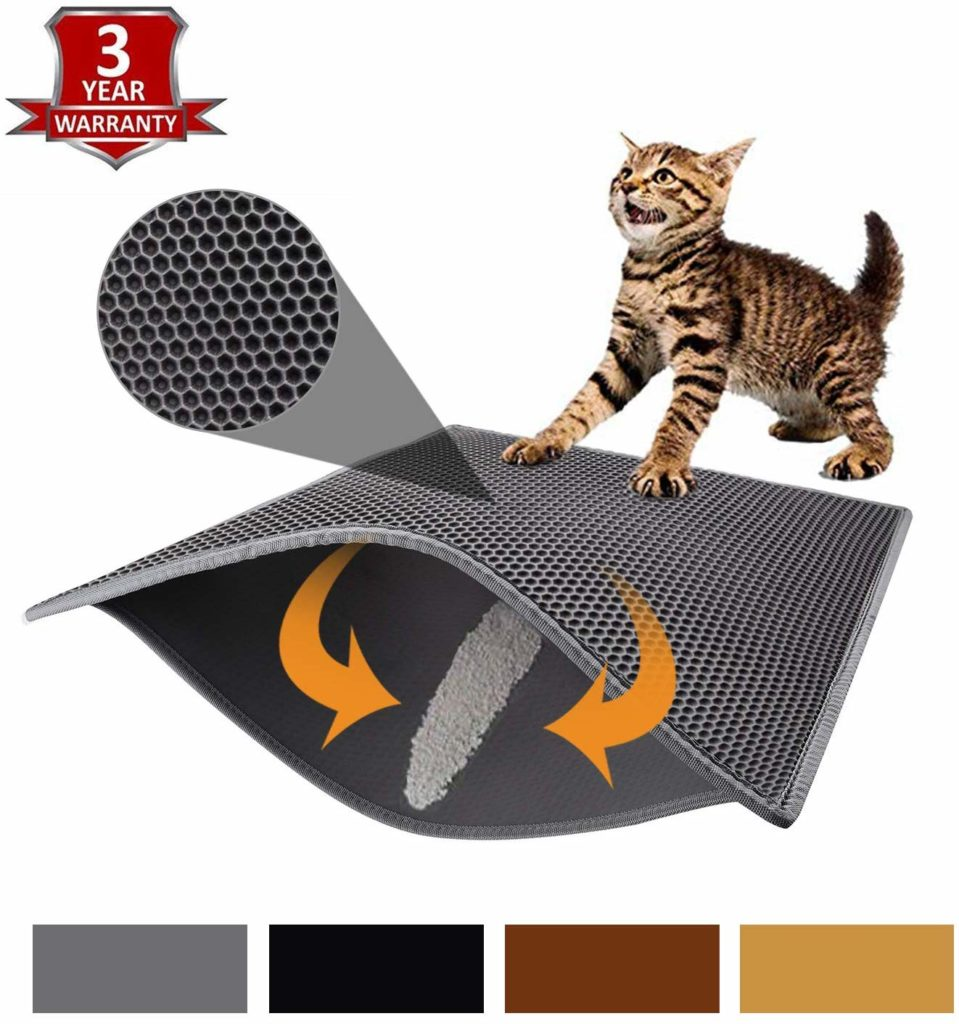 cat litter mat amazon