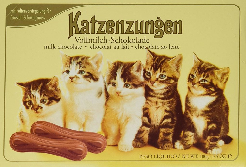 Cat tongue chocolates