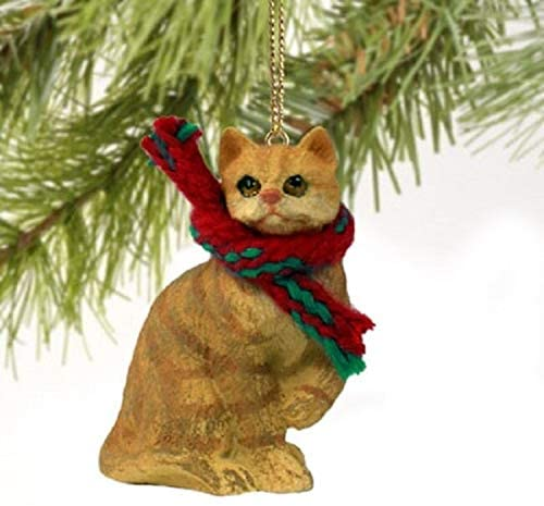 orange tabby cat tree decoration