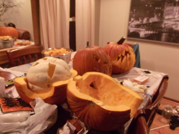 More carved pumpkins