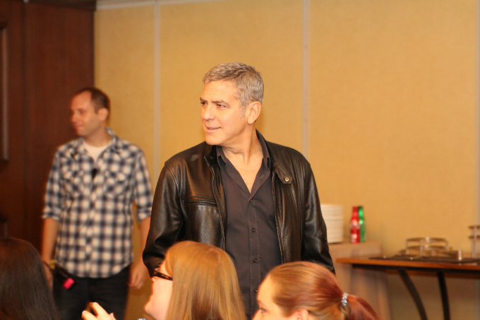 Check out this great interview with George Clooney at the Tomorrowland Press Junket