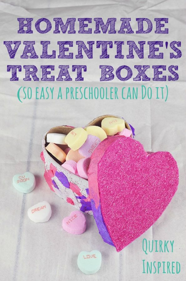 Check out a super fun and simple way to make Homemade Valentine's Day Treat Boxes