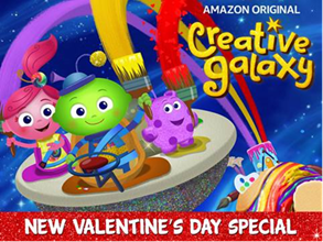 Check out how to make homemade valentine's day treat boxes and watch Creative Galaxy too!