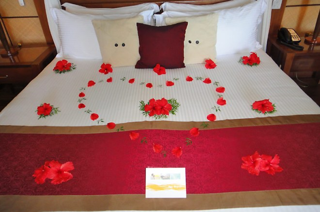 Petals on the bed