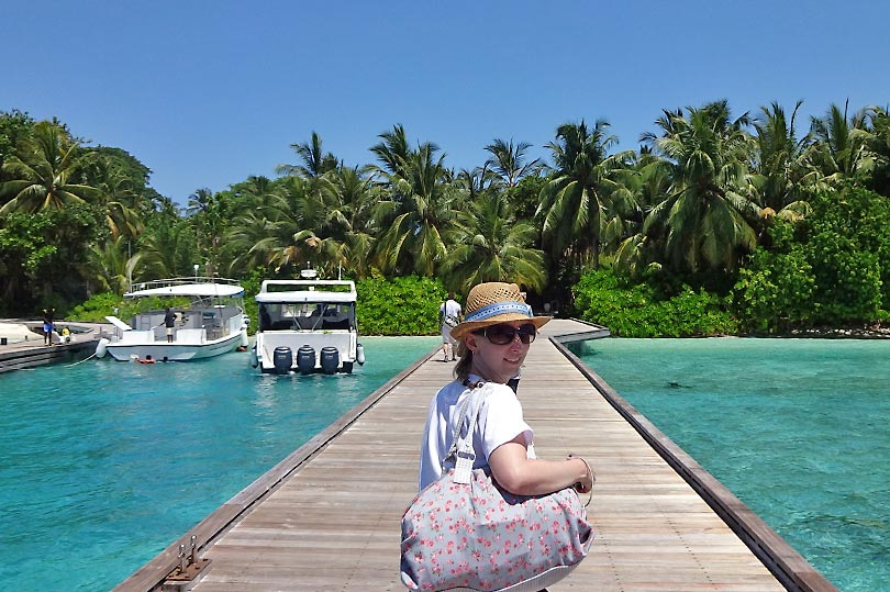 Arriving in the Maldives