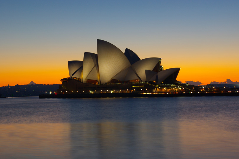Sydney Opera House at sunrise by Quirky Little Planet