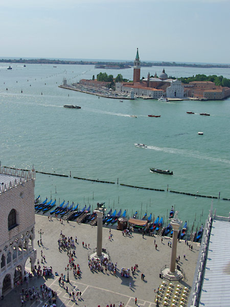 The view from the Campanile di San Marco in Venice, Italy. Read my travel series - A View From The Top.