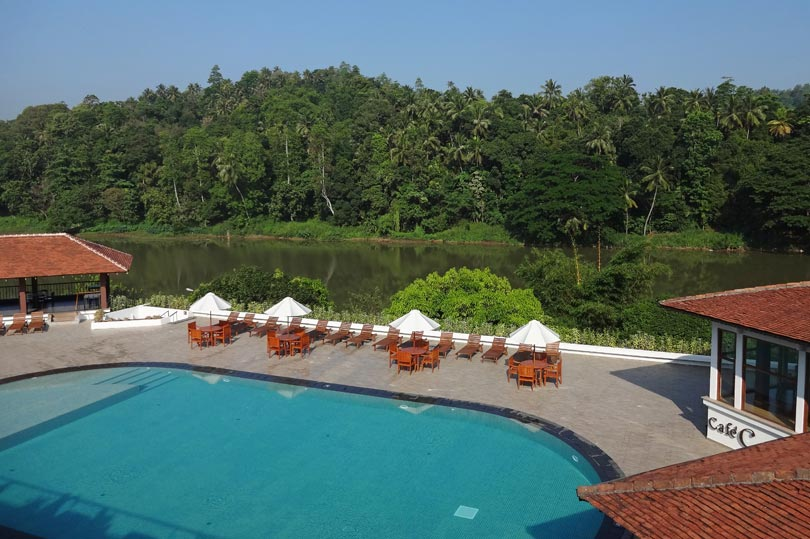 View of the pool at Cinnamon Citadel Hotel, Kandy - Sri Lanka