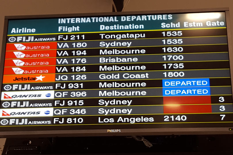 International departures