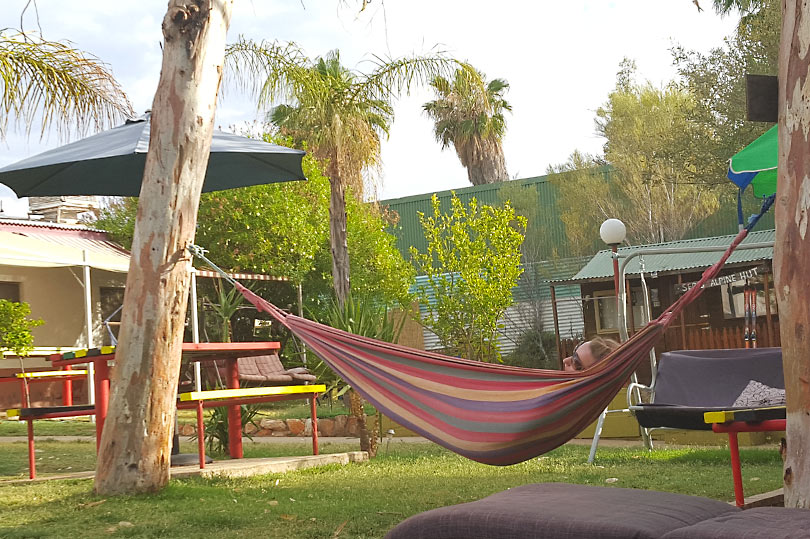 Laze in a hammock at Alice's Secret