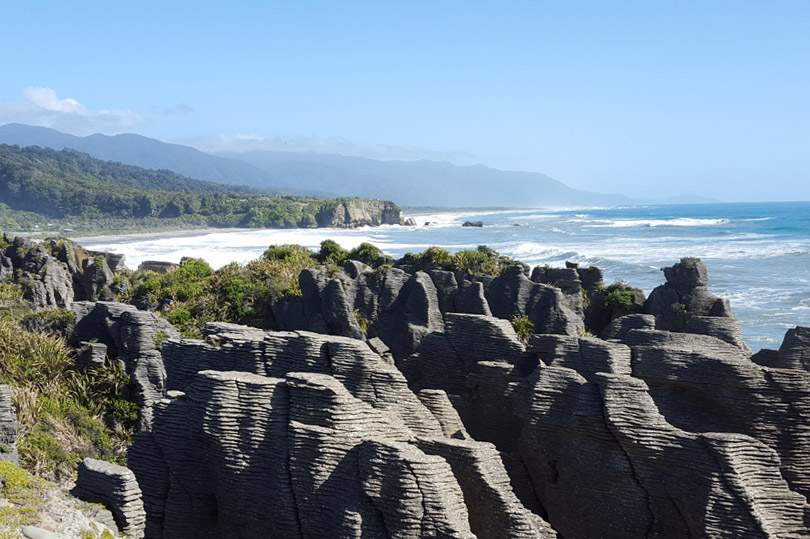 Punakaiki Pancake Rocks on the West Coast of New Zealand's South Island