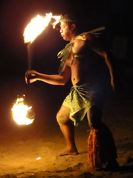 Fijian Fire Dancer on Robinson Crusoe Island