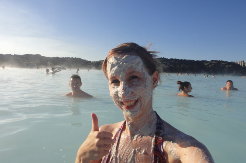 Thumbs up for the Blue Lagoon