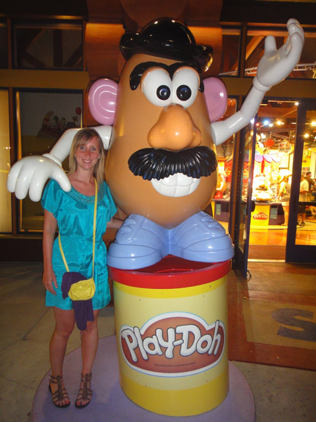 Mr Potato Head figure in Downtown Disney, Orlando, Florida