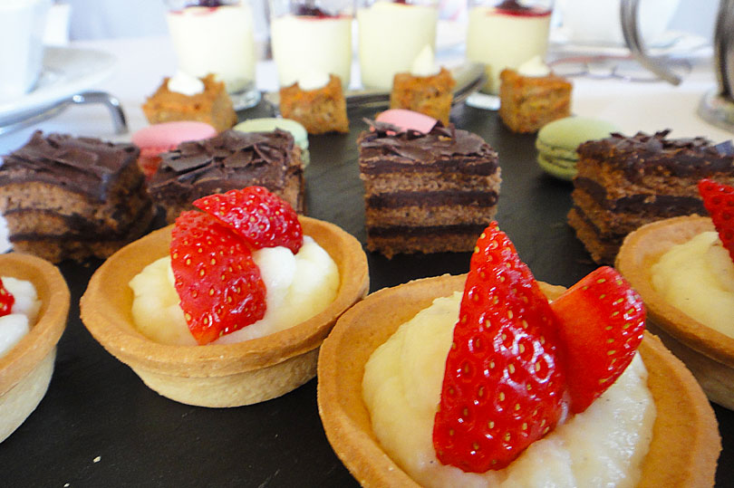 Delicious desserts for afternoon tea