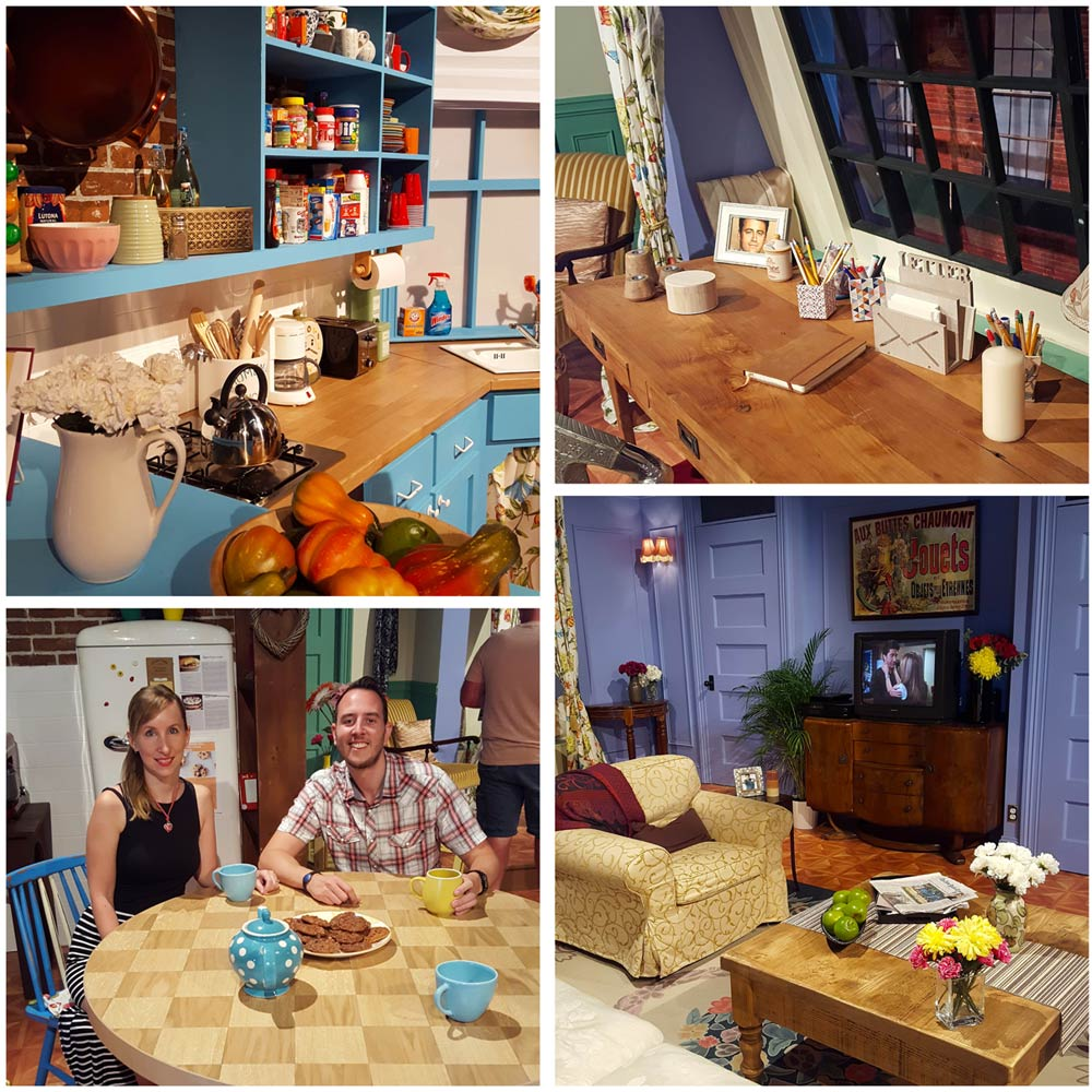 Montage of Monica's apartment at Friends Fest