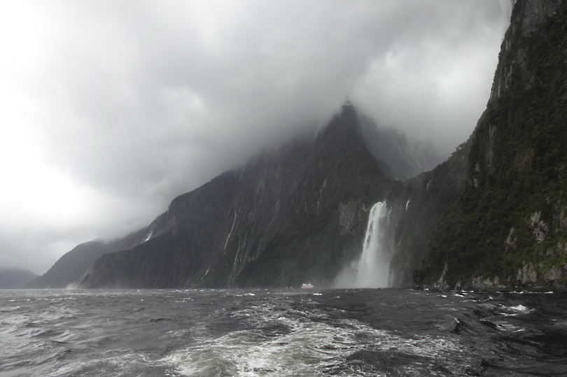 Milford Sound in bad weather