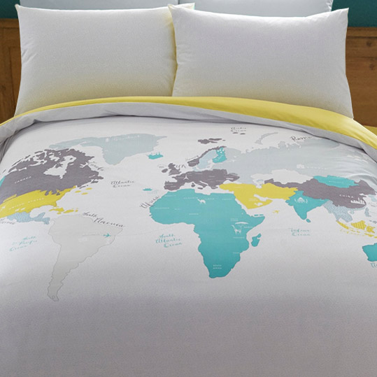 Ben de Lisi Travel themed bedding