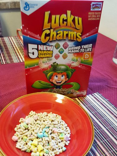 Lucky Charms breakfast cereal