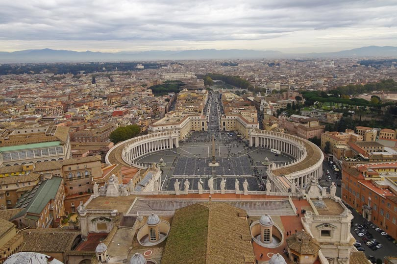 view from the top of St Peter's Basilica