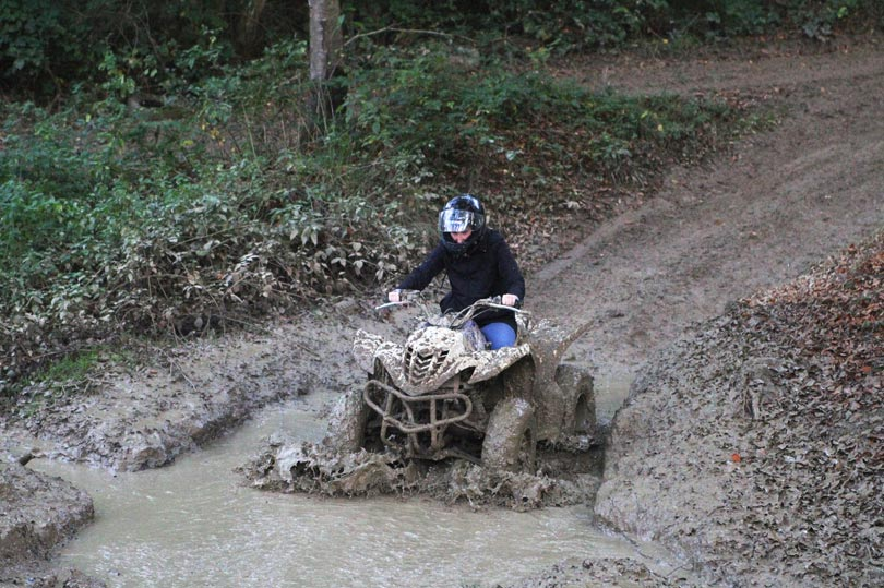 Muddy quad biking at Southern Pursuits
