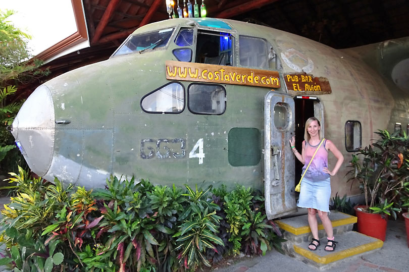 El Avion - quirky restaurants in Costa Rica