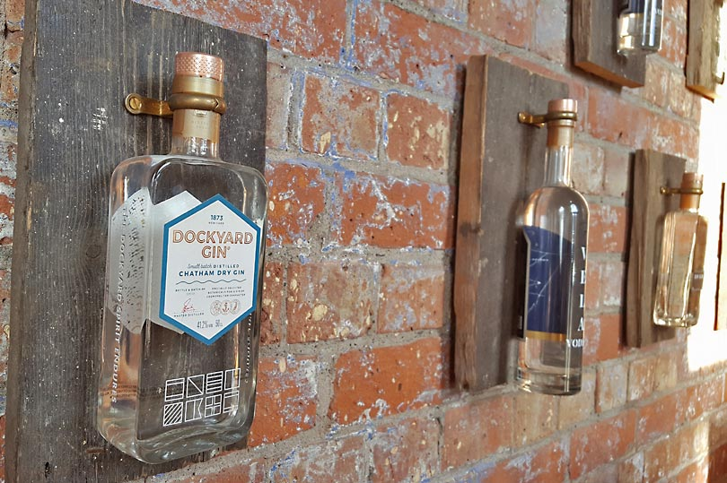 Dockyard gin - bar display