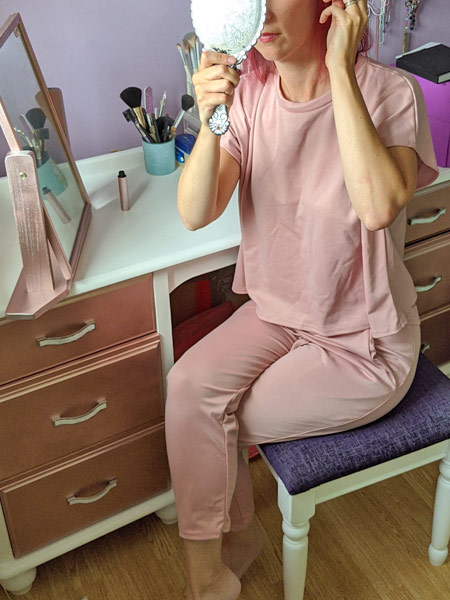 Rose Short Sleeve Boxy Loungewear Set