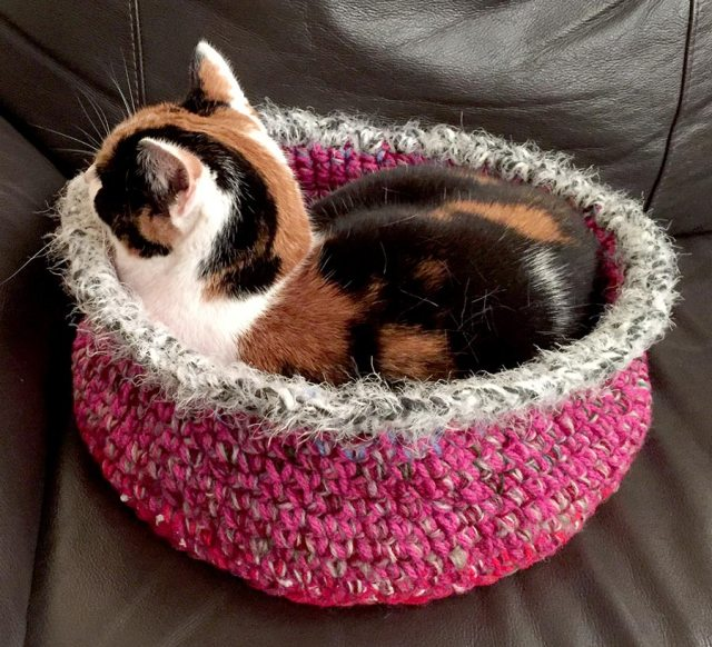 crochet cat basket Trillian