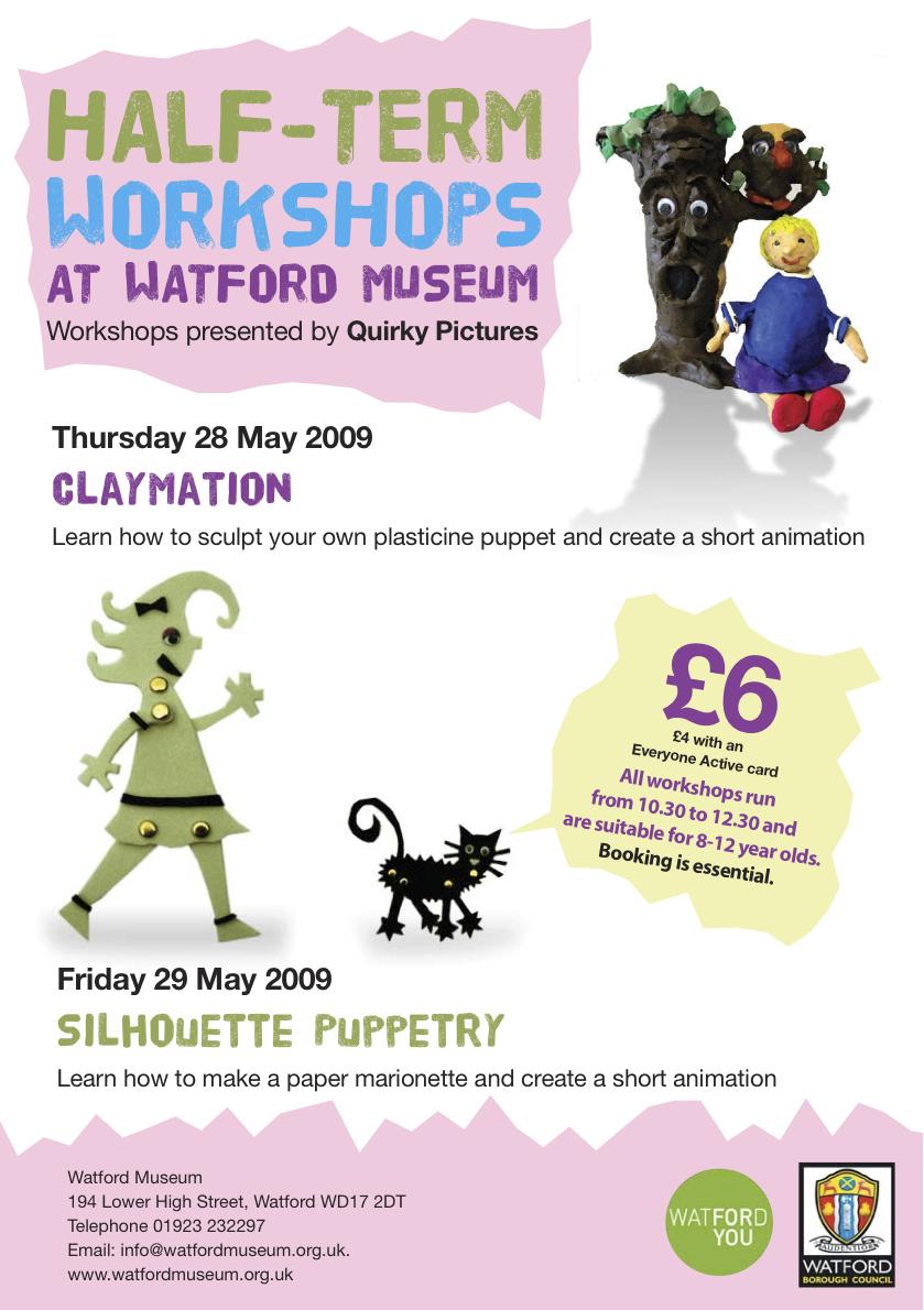 Workshops Watford Museum May 09