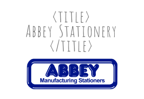 Quirky Sites Portfolio - Abbey Stationery