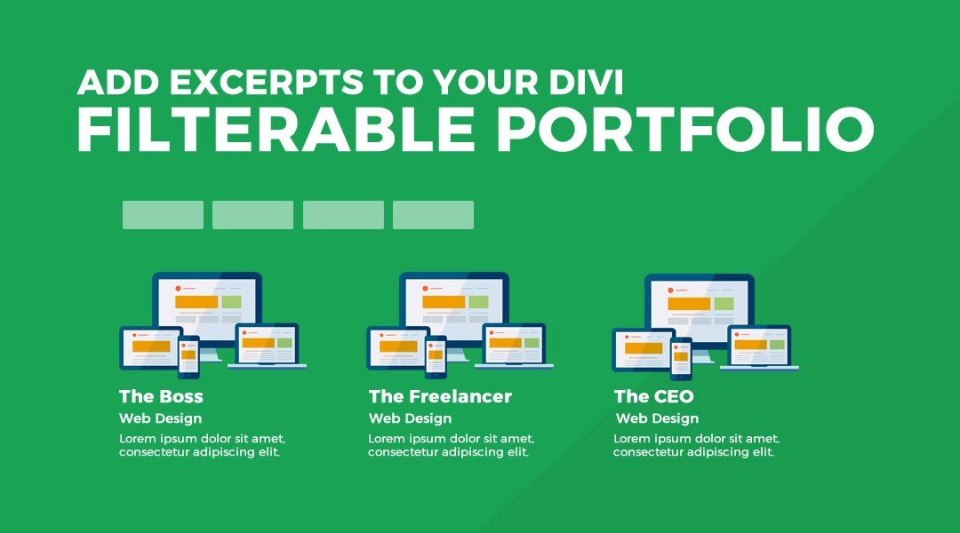 Add Excerpts To Your Filterable Portfolio