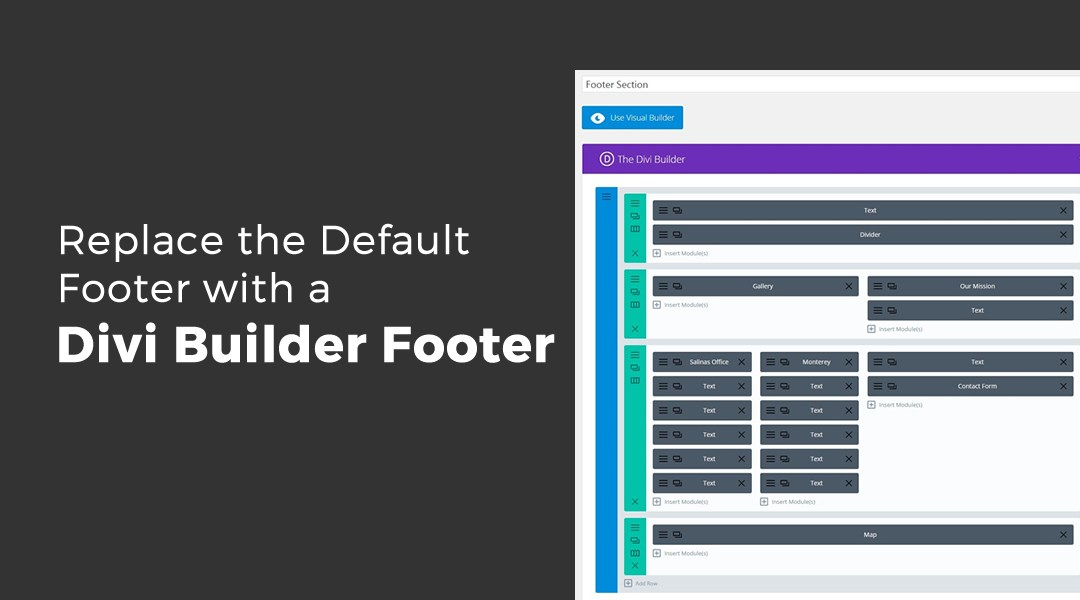 Replace the Default Footer with a Divi Builder Footer Saved in Your Divi Library