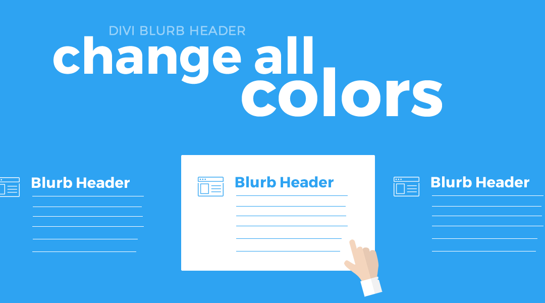 Change All Colors When Hovering Over The Divi Blurb