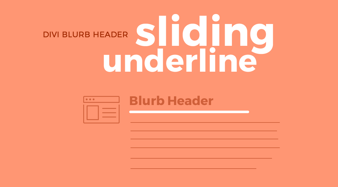 Divi Blurb Header Sliding Underline