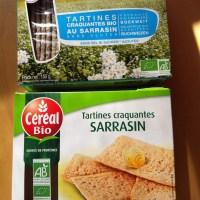 """Tartines au sarrasin du rayon """"bio"""" versus tartines au sarrasin sans gluten"""