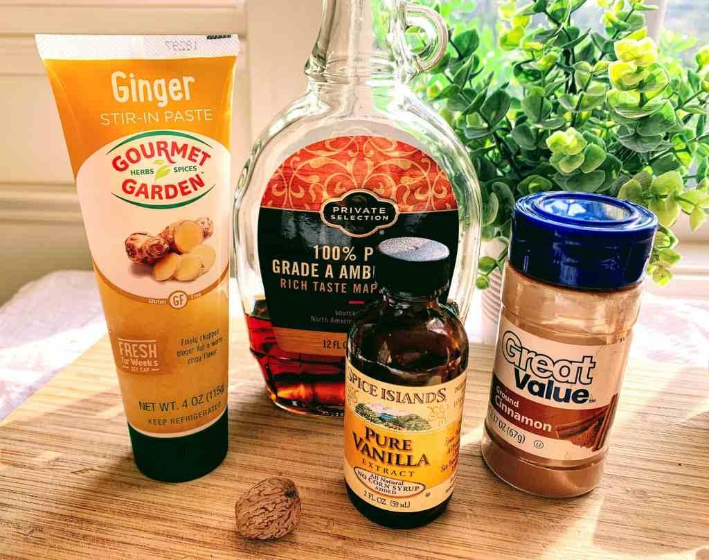 peach cobbler oats_ingredients
