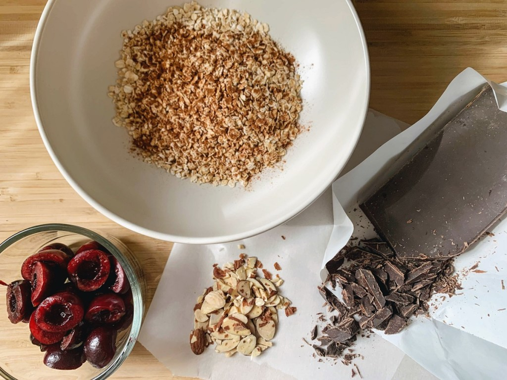 Cherry Chocolate Recipe Oatmeal_ingredients 2_1200 px