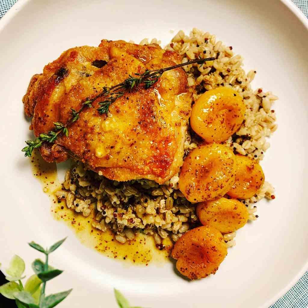Honey Mustard Chicken_topview single serving